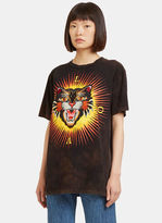 Gucci Women's Embroidered Tiger Crew Neck T-Shirt in Black