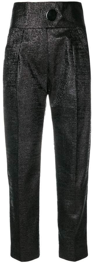 Petar Petrov metallic side-striped trousers