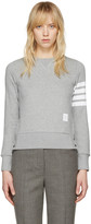 Thom Browne Grey Classic Four Bar Pullover