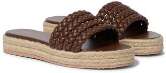 Gianvito Rossi Marbella leather espadrille sandals