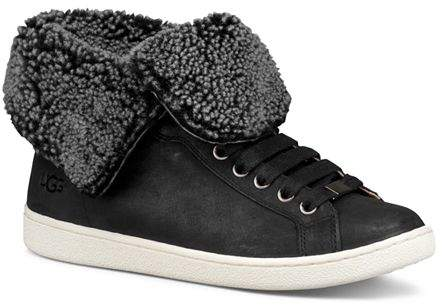 aa90165c078 Women's Starlyn Round Toe Lace Up Leather High-Top Sneakers