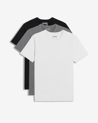Express 3 Pack Slim Stretch Crew Neck T-Shirts