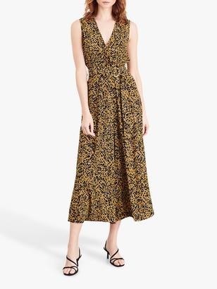Damsel in a Dress Damaris Leopard Print Jumpsuit, Mustard/Multi
