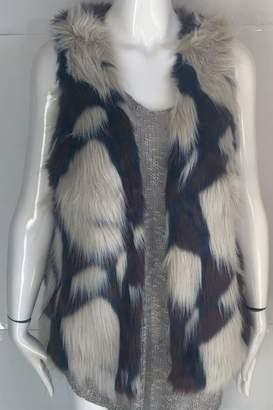 Yahada Faux-Fur Animal-Print Vest