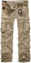 knight horse Men's Cotton Washed Multi Pockets Military Cargo Pant