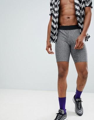 ASOS DESIGN festival megging shorts in silver