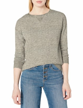 Daily Ritual Amazon Brand Women's Terry Cotton and Modal Crewneck Sweatshirt