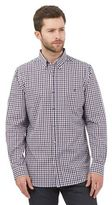 Jeff Banks Big And Tall Purple Gingham Checked Shirt