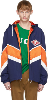 Gucci Orange and Navy Technical Jacket