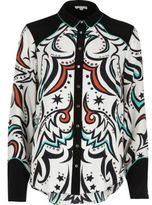 River Island Womens Cream western print panel shirt