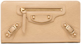 Balenciaga Classic Gold Continental Zip Around