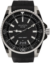Gucci Black and Silver Xl Dive Watch