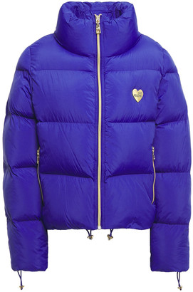 Love Moschino Appliqued Quilted Shell Jacket
