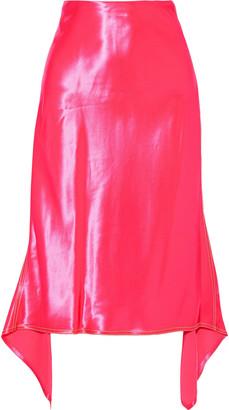 Sies Marjan Darby Asymmetric Satin Midi Skirt