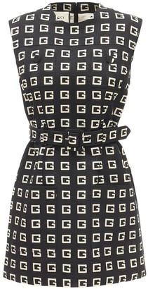 Gucci G Print Faille Mini Dress