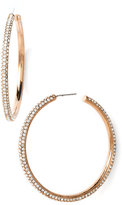 Large Pavé Crystal Hoop Earrings