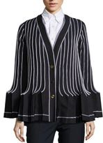 Thom Browne Accordion Wool-Blend Pleated Blazer
