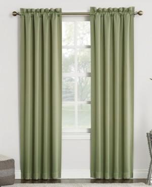 "Sun Zero Preston 40"" x 95"" Rod-Pocket Blackout Curtain Panel"