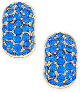 Charter Club Erwin Pearl Atelier for Gold-Tone Blue Crystal Huggie Hoop Earrings, Only at Macy's