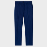 Paul Smith Men's Tapered-Fit Navy Cotton-Linen Chinos