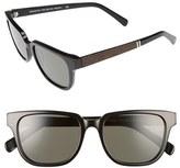Shwood Men's 'Prescott' 52Mm Polarized Sunglasses - Black / Elm Burl/ Grey