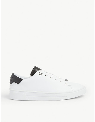 Ted Baker Zenib leather tennis trainers
