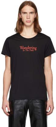 Ann Demeulemeester Black Wandering In The Dark T-Shirt