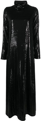 In The Mood For Love Sequinned Long-Sleeved Maxi Dress