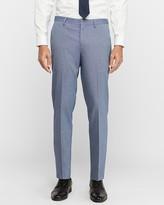 Express Slim Blue Stretch Wrinkle-Resistant Dress Pant