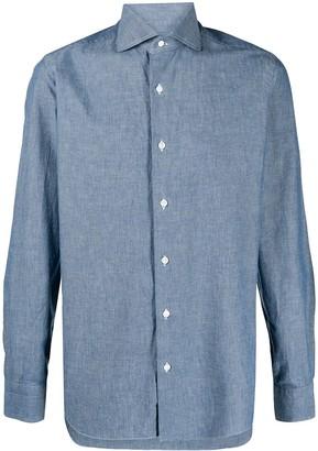 Barba Long-Sleeve Chambray Shirt