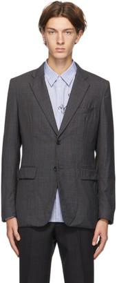 Comme des Garçons Homme Deux Grey Wool Check Blazer