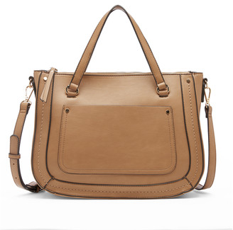 Sole Society Women's Yuri Satchel Vegan Leather Satchel In Color: Camel Bag From