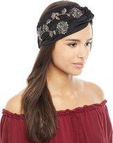 Jennifer Behr Silk Satin Sirvat Turban Head Wrap