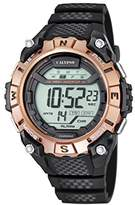 Calypso Unisex Digital Watch with LCD Dial Digital Display and Black Plastic Strap K5683/2