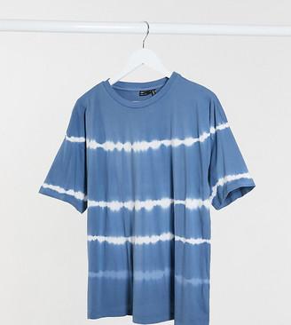 ASOS DESIGN Maternity oversized t-shirt in tie dye stripe
