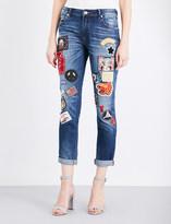 True Religion Audrey patch skinny stretch-denim jeans
