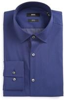 BOSS Men's Jenno Slim Fit Stretch Stripe Dress Shirt