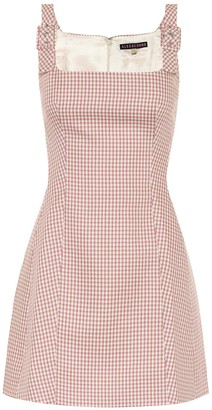 ALEXACHUNG Eliza checked twill dress