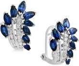 Effy Royalandeacute; Blue by EFFYandreg; Sapphire (3-1/10 ct. t.w.) and Diamond (1/4 ct. t.w.) Drop Earrings in 14k White Gold