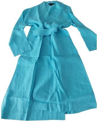 Ralph Lauren Purple Label Turquoise Linen Dresses