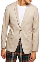 Topman Skinny Fit Check Suit Jacket