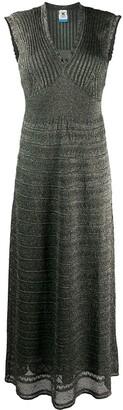 M Missoni Metallic Ribbed Knit Dress