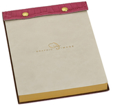 Graphic Image Leather Notepad