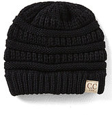 CC Girl Solid Knit Beanie Hat