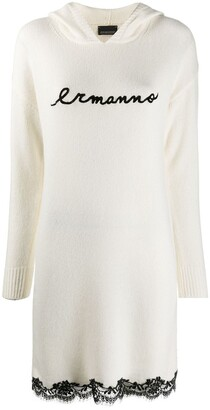 Ermanno Ermanno Contrast Logo Knitted Dress