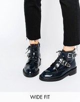 Asos ABE Wide Fit Leather Ankle Boots