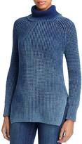 Heather B Acid Wash Turtleneck Sweater