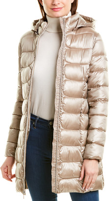 Via Spiga Packable Mid-Length Hooded Puffer Jacket