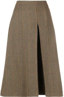 Maison Margiela A-line check midi-skirt