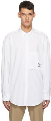 Wooyoungmi White Poplin Logo Shirt